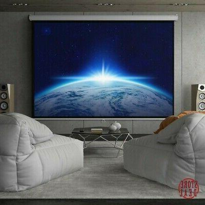 Projector Screen Hd Pulldown Durable White