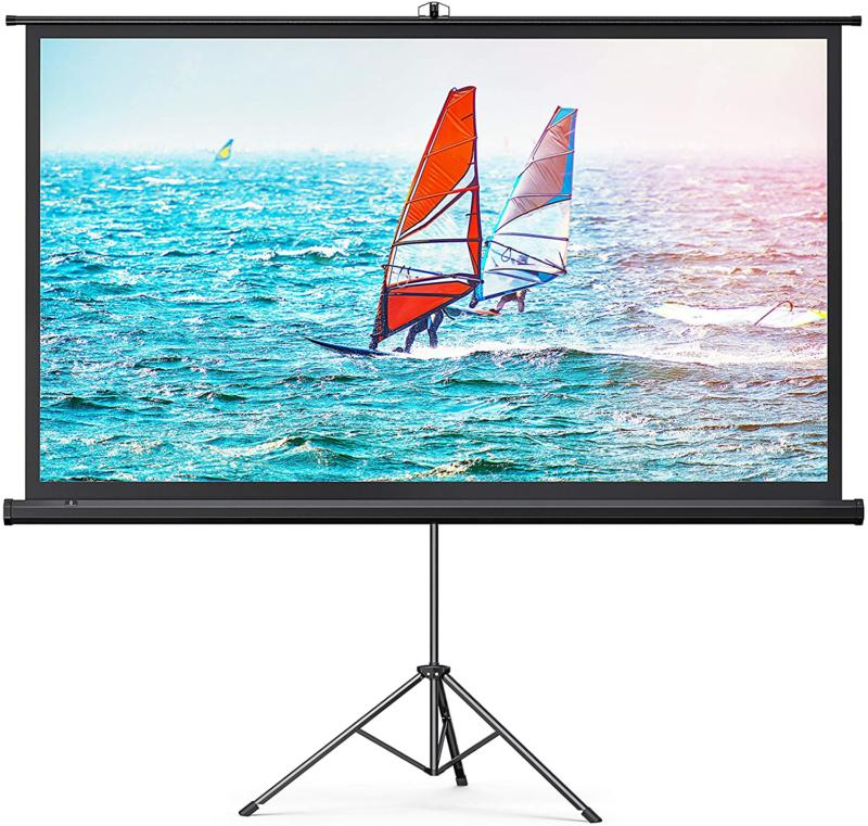 projector screen with stand indoor outdoor pvc