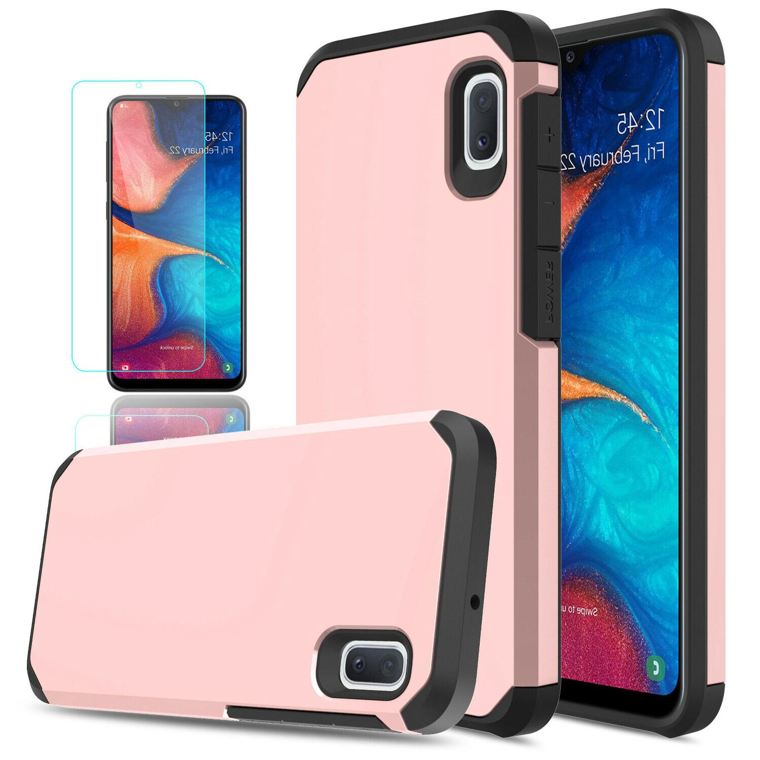 For A10e A20 Cover Armor With HD Glass Screen Protector