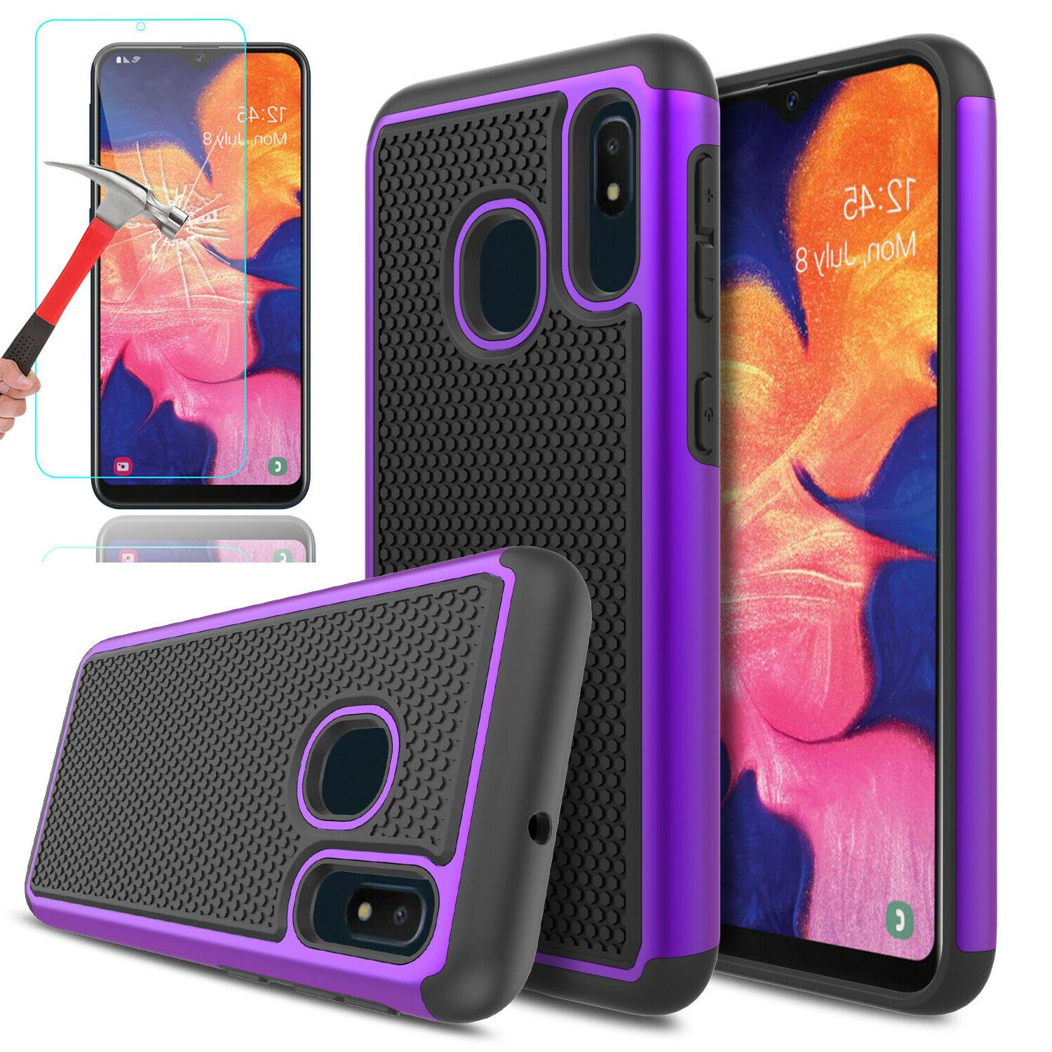For A20 Case Armor Cover+Glass Screen Protector