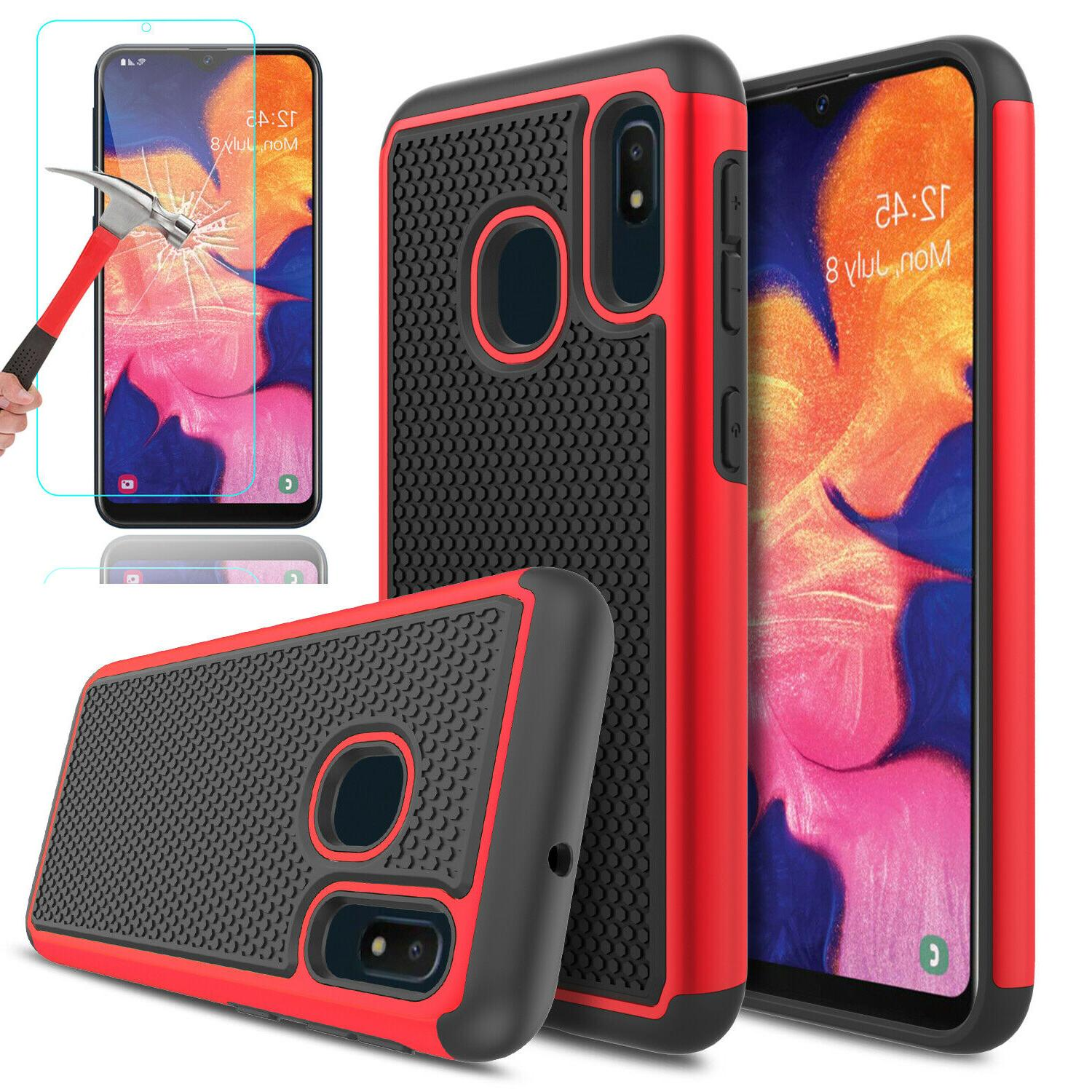 For Samsung A20 Shockproof Cover+Glass Protector