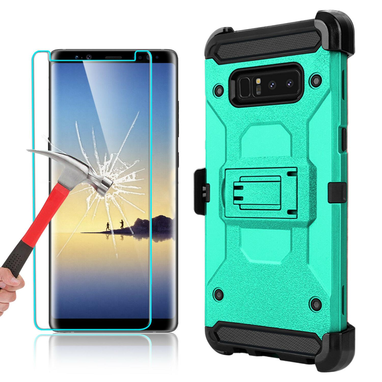 For Samsung 8 Case With Kickstand Screen Protector