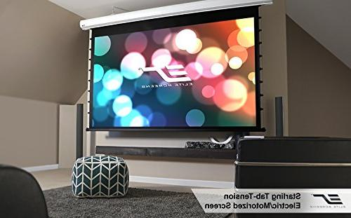 Elite Starling Tab-Tension STT135XWH2-E6 Electric Projection Screen - 135 - - Wall/Ceiling 66.2 x - Spectra FG