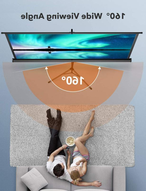 Taotronics Projector Screen With Stand,Indoor Screen 4K