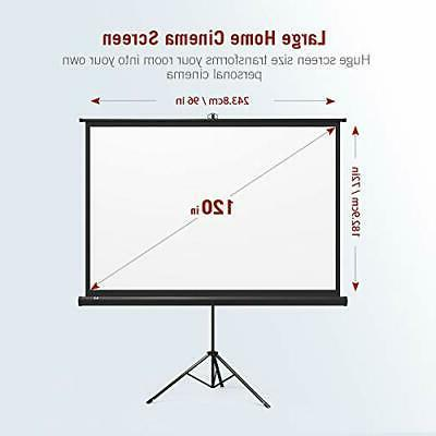 TaoTronics Projector Screen with Stand, 4: