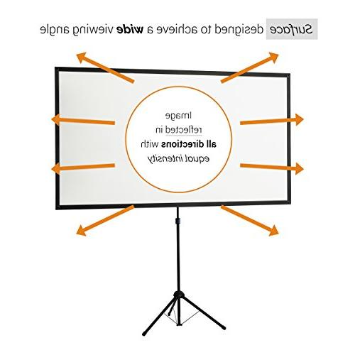 "celexon 80"" Tripod Projector Screen 16:9 Format, Weight, Size:"