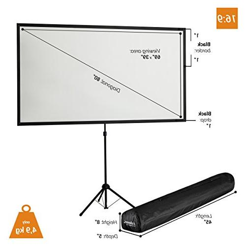"celexon 80"" Screen Lightweight, 16:9 Format, 11 Size:"
