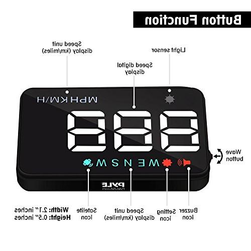HUD - Multi-Color Vehicle Speed & Navigation Compass, Play