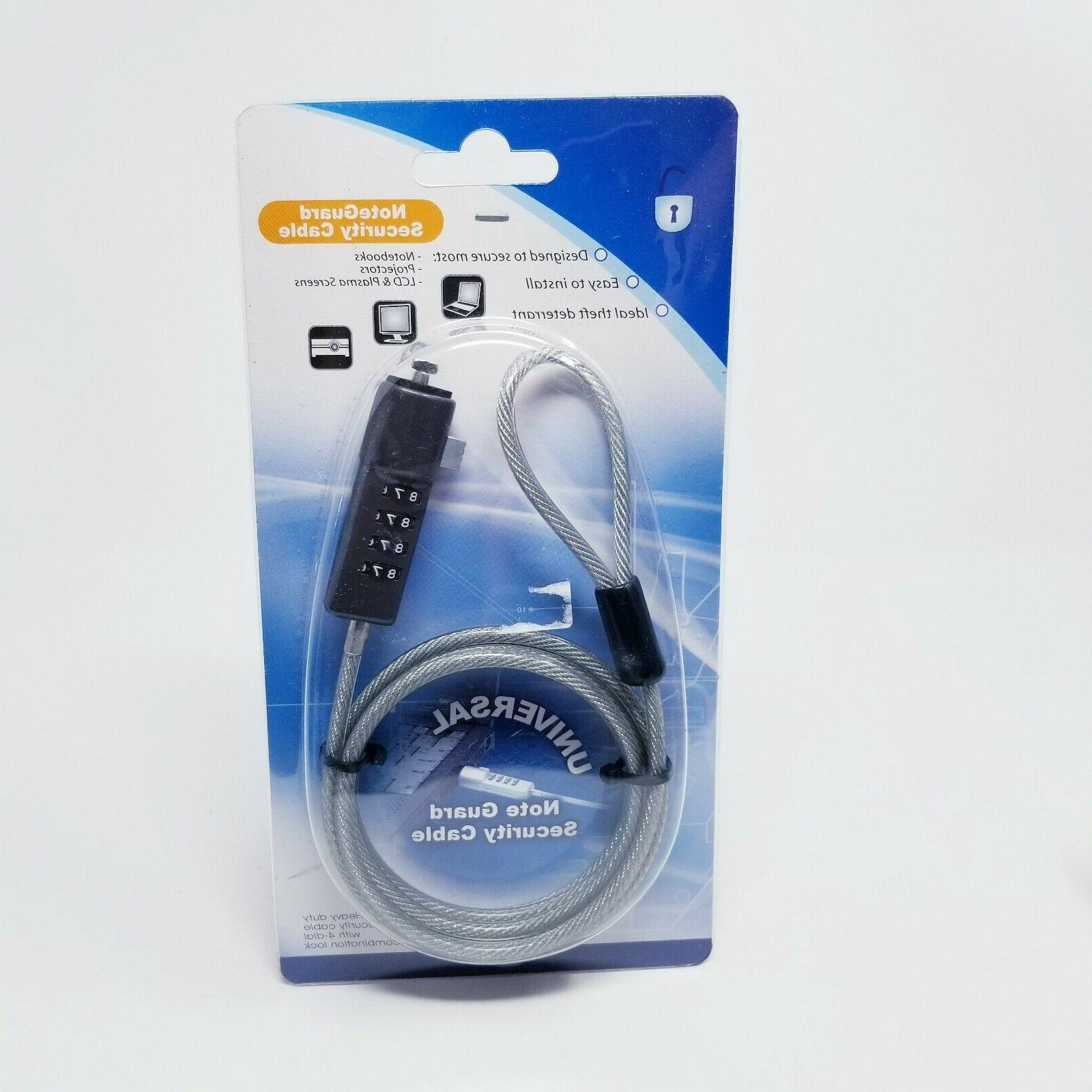 Note Guard Universal Security Cable For NOTEBOOKS, PROJECTOR