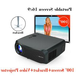 LCD LED HD Native 1080P Projector 4K Home Cinema Daytime+Fre