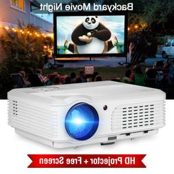 LCD LED Projector 5000lms Home Theater HDMI USB 1080p and Po