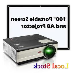 LED LCD Projector HD Home Cinema Video Movie Film Party HDMI