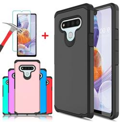 For LG Stylo 5/Stylo 4/4+ Plus Armor Case Cover+Tempered Gla