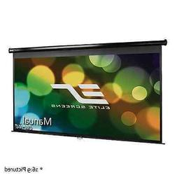 Elite Screens Manual 120-inch 16:9 Pull Down Projection Manu