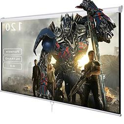 Safeplus Manual Pull Down Projection Screen with Auto-lock,