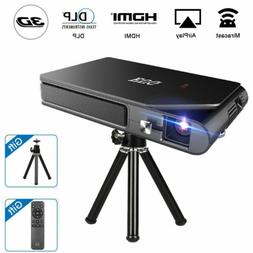 Pico DLP Projector 1080P Wireless Mirror Screen for 3D Home