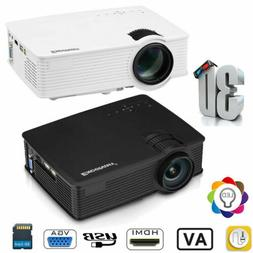 MINI 7000LUMEN 3D 1080P HD LED VIDEO PROJECTOR HDMI/USB/SD/A