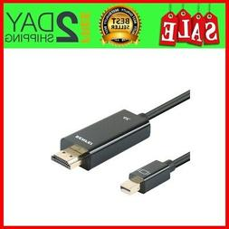 Benfei 4K Mini Displayport to HDMI 6 Feet Cable with Audio,