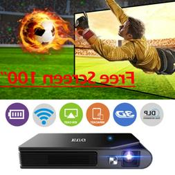 Mini DLP Projector 3D Home Theater HDMI WIFI Airplay Miracas