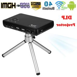 Mini Pocket DLP Projector Android Wifi 1080P 3D LED Home The