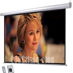 Motorized Electric Auto Projector Projection Screen 16:9 Hom