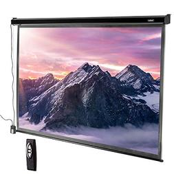 VonHaus 100 Inch Motorized Automatic Projector Screen with R