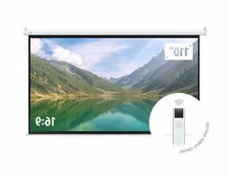 Motorized Projector Screen Electric Remote Control 110 Inch
