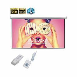 Motorized Projector Screen with Remote Control, ExquizOn Cei