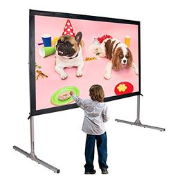 Cloud Mountain 90 Inch Outdoor Projector Screen with Stand F