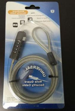 NEW NOTE GUARD UNIVERSAL SECURITY CABLE FOR NOTEBOOKS, PROJE