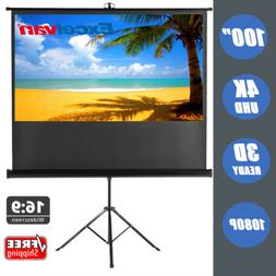 """100"""" Outdoor Projector 4K Projection Screen Pull-up Home Cin"""