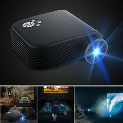 Outdoor Home Theater Projector Movie HDMI Lumens LED Portabl