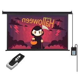 Auto Projector Screen with Remote Control, Excelvan Motorize