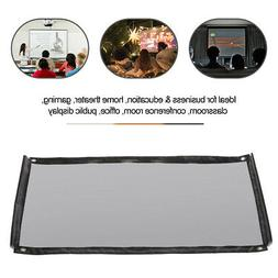 Portable 16:9 Silver Projector Screen Foldable Home Theater