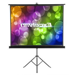 Portable 3D 1080P 100'' Pull Up Projection Screen + Stand fo