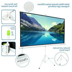 "Portable 84/100"" Projector 16:9 HD Projection Screen Tripod"