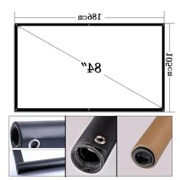 84'' Portable Projector Screen Home Theater Outdoor 16:9 HD