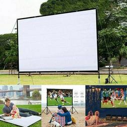 Portable Foldable Projector Screen 16:9 HD Home Cinema Theat