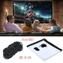 Portable Foldable Projector Screen 16:9 HD Home Theater Outd