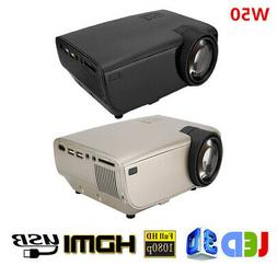 Portable HD LED Projector Video Multimedia Home Theater HDMI