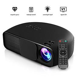 GBTIGER 4000 Lumens Portable Home Projector 1280 x 800 Pixel