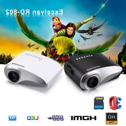 Portable LED/LCD Mini Multimedia Projector Home Theater 60-1