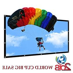 Portable Projector Screen Indoor Outdoor Lightweight Folding