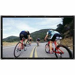 Varmax Portable Projector Screen 150 Inch 169 Movie With Fol
