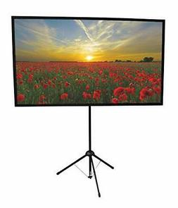 Portable Projector Screen 90 inch Mounts on Tripod and Wall