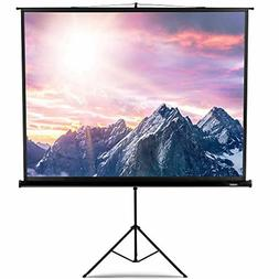 """Portable Projector Screen Stand Tripod 100"""" Home Theater Cin"""
