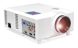 Pyle PRJD904 Widescreen LED Projector with up to 100-Inch Vi