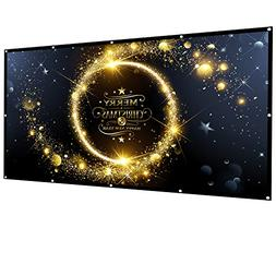 Owlenz 100 inch Projection Screen 16:9 HD Foldable Anti-Crea