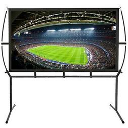 Portable Projector Screen with Stand, Indoor and Outdoor Mov