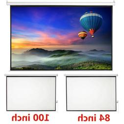 Projection Projector Canvas Screen Home Movie Manual Pull Do